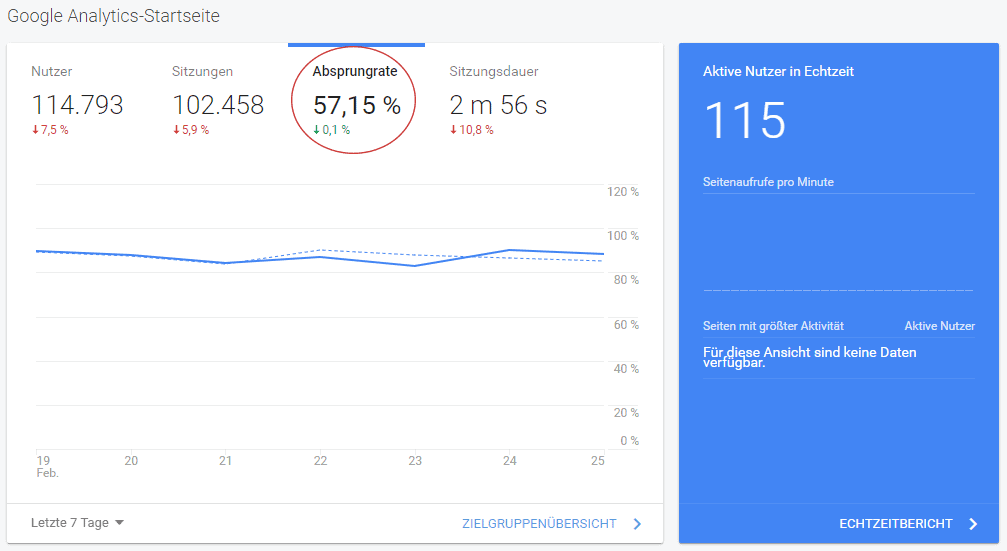 Google Analytics - Nutzerdaten